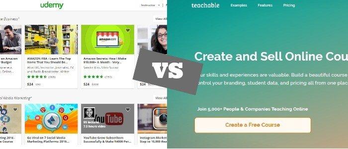 Udemy vs Teachable